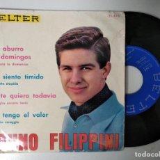 Discos de vinilo: BRUNO FILIPPINI EP BELTER 1964 ME SIENTO TIMIDO/ ME ABURRO LOS DOMINGOS/ YO TE QUIERO TODAVIA ITALIA. Lote 195240322