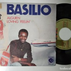 Discos de vinilo: BASILIO / ALGUIEN / LOVING FEELIN' (SINGLE PROMO 1971). Lote 195242356