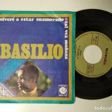 Discos de vinilo: BASILIO - TAL VEZ MAÑANA / NO VOLVERÉ A ESTAR ENAMORADO - SINGLE DEL SELLO NOVOLA 1970. Lote 195242401