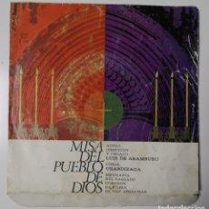 Discos de vinilo: MISA DEL PUEBLO DE DIOS. LUIS DE ARAMBURU. Lote 195243153