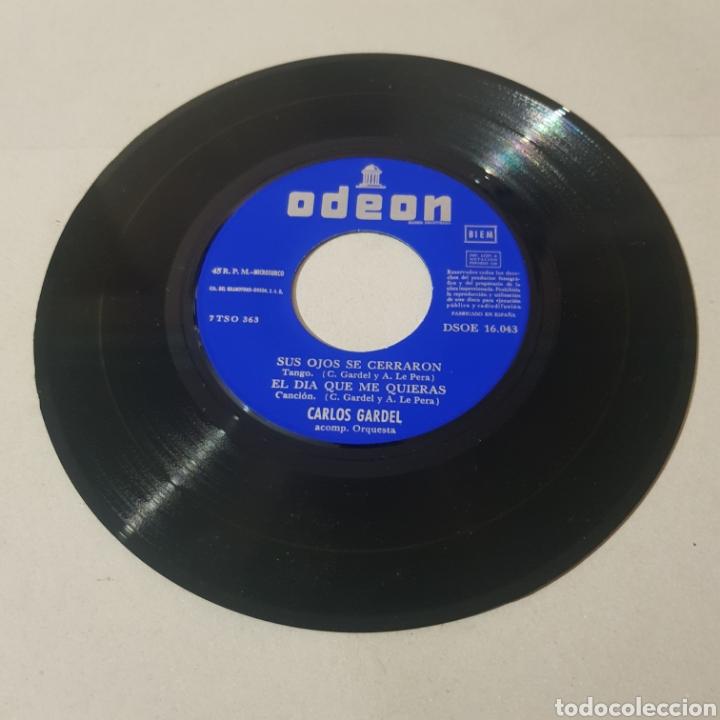 Discos de vinilo: CARLOS GARDEL - SUS OJOS SE CERRARON - MELODIA DE ARRABAL - EL DIA QUE ME QUIERAS - VOLVER - Foto 4 - 195244165