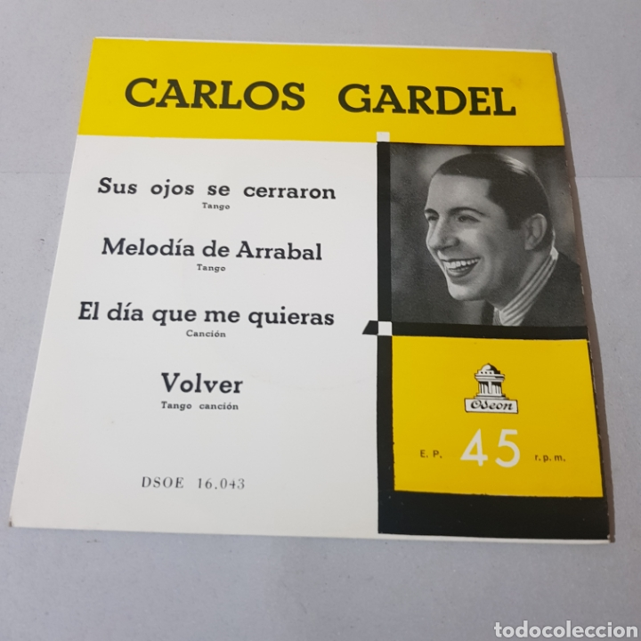 Discos de vinilo: CARLOS GARDEL - SUS OJOS SE CERRARON - MELODIA DE ARRABAL - EL DIA QUE ME QUIERAS - VOLVER - Foto 5 - 195244165