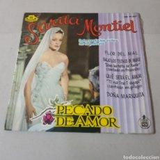 Discos de vinilo: SARITA MONTIEL - FLOR DEL MAL - BAJO LOS TECHOS DE PARIS - QUE SERA EL AMOR - PECADO DE AMOR. Lote 195245137