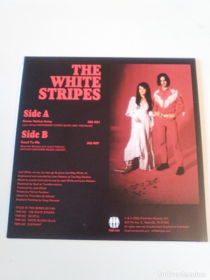Discos de vinilo: THE WHITE STRIPES Seven nation army / Good to me ( 2003 THIRD MAN RECORDS USA REED ) - Foto 2 - 195245261