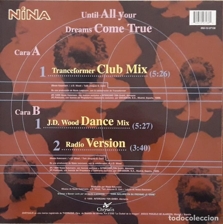 Discos de vinilo: NINA - UNTILL ALL YOUR DREAMS COME TRUE - Foto 2 - 195245781