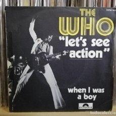 Discos de vinilo: THE WHO -LET'S SEE ACTION -SINGLE 1971 FRANCIA. Lote 195249612