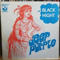 Discos de vinilo: DEEP PURPLE – BLACK NIGHT - SINGLE 1970 FRANCIA PORTADA UNICA - EXCELENTES CONDIONES. Lote 195249701