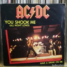 Discos de vinilo: AC/DC – YOU SHOOK ME (ALL NIGHT LONG) - SINGLE 1980 FRANCIA PORTADA UNICA - EXCELENTES CONDIONES. Lote 195249763