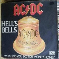 Discos de vinilo: AC/DC –HELL'S BELLS - SINGLE 1980 FRANCIA PORTADA UNICA . Lote 195249790