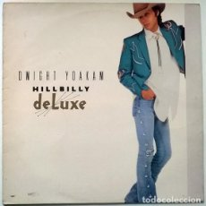 Discos de vinilo: DWIGHT YOAKAM. HILLBILLY DE LUXE. REPRISE-WEA, SPAIN 1987 LP + ENCARTE. Lote 195251766