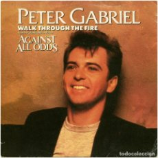 Discos de vinilo: PETER GABRIEL ‎- WALK THROUGH THE FIRE / LARRY CARLTON - THE RACE - SG SPAIN 1984 - VIRGIN ‎A 106571. Lote 195253217