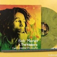 Discos de vinilo: BOB MARLEY LP CAN'T BLAME THE YOUTH VINILO COLOR VERDE MILITAR 300 COPIAS NUMERADAS RARO. Lote 195259025