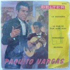 Discos de vinilo: PAQUITO VARGAS // LA HIJA DE DON JUAN ALBA+3// 1960 // EP. Lote 195265595