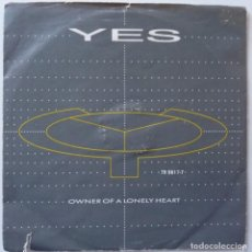 Discos de vinilo: YES // OWNER OF A LONELY HEART //1983 //PROMO // ITALIA// SINGLE. Lote 195266162