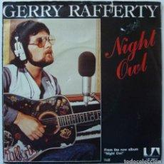 Discos de vinilo: GERRY RAFFERTY // NIGHT OWL // 1979 // PROMO // SINGLE. Lote 195266311