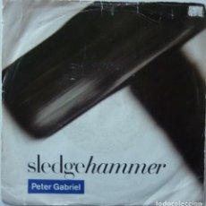 Discos de vinilo: PETER GABRIEL // SLEDGEHAMMER // 1986 // PROMO // ENGLAND //SINGLE. Lote 195266468