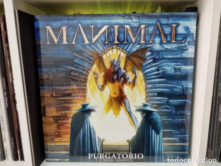 Discos de vinilo: Manimal_Purgatorio_edicion 250 copias color amarillo_2018 precintado.Judas Priest,Maiden,Saxon, - Foto 4 - 194516156