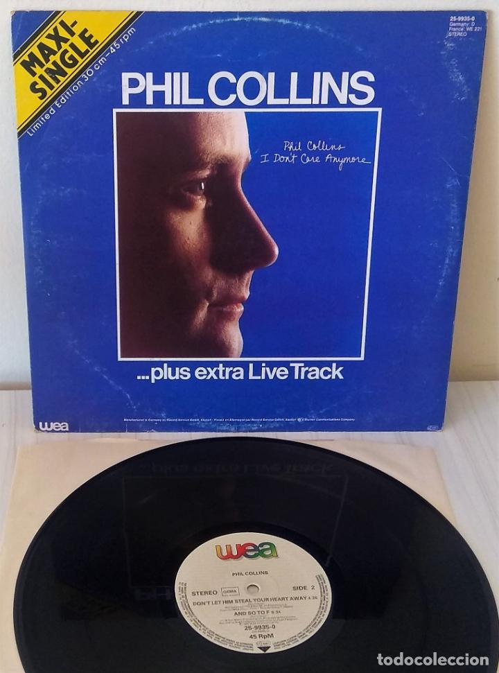 Discos de vinilo: PHIL COLLINS - I DON´T CARE ANYMORE.. PLUS EXTRA LIVE TRACK MAXI WEA - 1983 - Foto 2 - 195267521