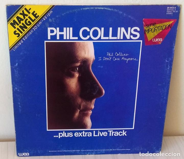 PHIL COLLINS - I DON´T CARE ANYMORE.. PLUS EXTRA LIVE TRACK MAXI WEA - 1983 (Música - Discos de Vinilo - Maxi Singles - Pop - Rock - New Wave Extranjero de los 80)