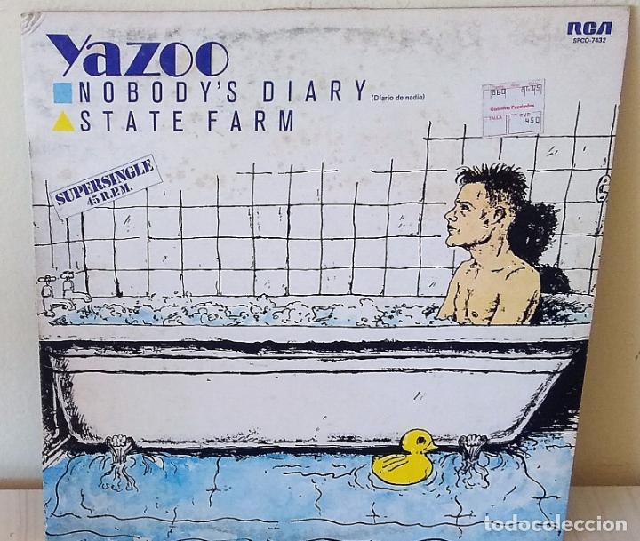 YAZOO - NOBODY´S DIARY MAXI R C A - 1983 (Música - Discos de Vinilo - Maxi Singles - Pop - Rock - New Wave Extranjero de los 80)