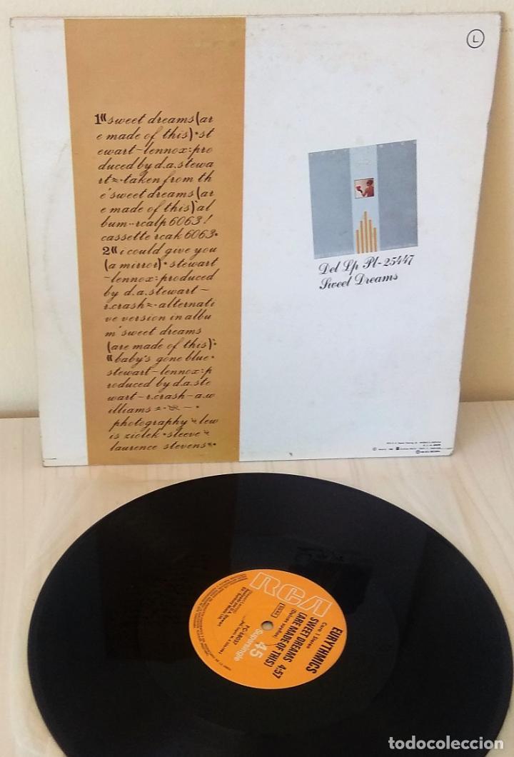 Discos de vinilo: EURYTHMICS - SWEET DREAMS MAXI R C A - 1982 - Foto 2 - 195271967
