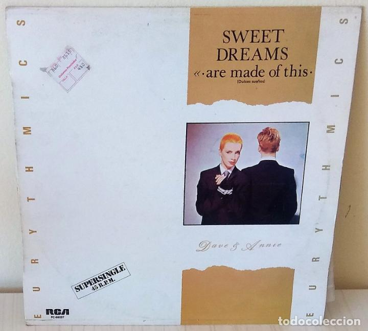 EURYTHMICS - SWEET DREAMS MAXI R C A - 1982 (Música - Discos de Vinilo - Maxi Singles - Pop - Rock - New Wave Extranjero de los 80)