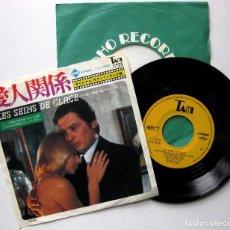 Discos de vinilo: PHILIPPE SARDE - LES SEINS DE GLACE (LOS SENOS DE HIELO) - SINGLE TAM 1974 JAPAN BPY. Lote 195272782