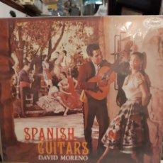 Discos de vinilo: DAVID MORENO SOANISH GUITARS NUSART DISCOS MONOFONICO. Lote 195274460