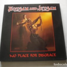 Discos de vinilo: FLOTSAM AND JETSAM NO PLACE FOR DISGRACE. Lote 195274712