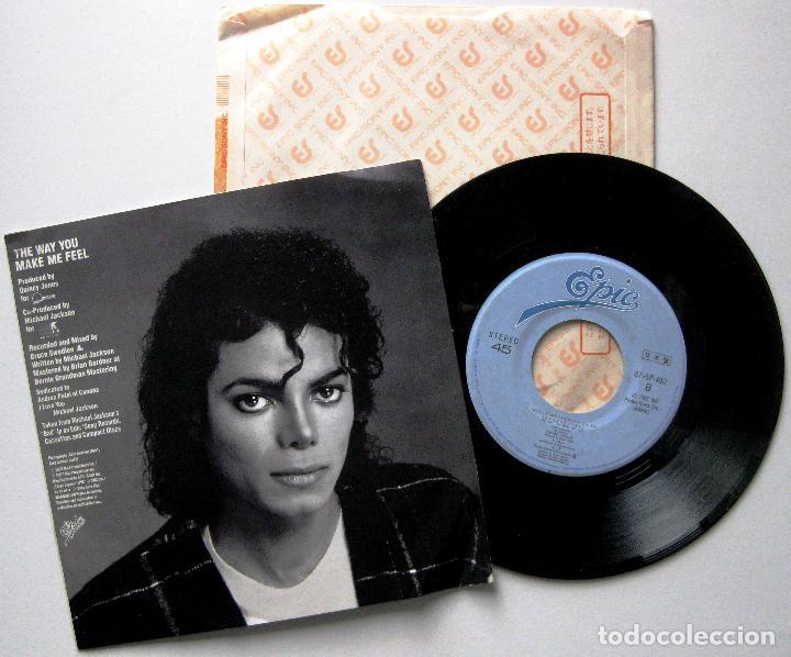 Discos de vinilo: Michael Jackson - The Way You Make Me Feel - Single Epic 1987 Japan PROMO (Edición Japonesa) BPY - Foto 2 - 195281027