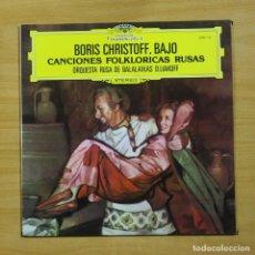 Discos de vinilo: BORIS CHRISTOFF - CANCIONES FOLKLORICAS RUSAS - LP. Lote 195282270
