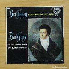 Discos de vinilo: BEETHOVEN / BACKHAUS - PIANO CONCERTO N 4 IN G MAJOR - LP. Lote 195282281