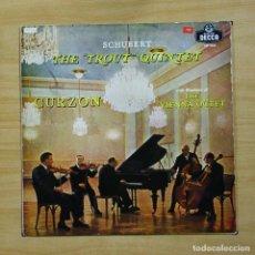 Discos de vinilo: SCHUBERT / CURZON - THE TROUT QUINTET - LP. Lote 195282297