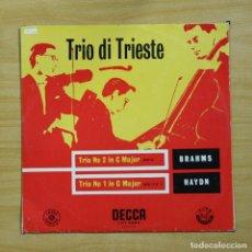 Discos de vinilo: TRIO DI TRIESTE - TRIO NO 2 IN C MAJOR / N 1 IN G MAJOR - LP. Lote 195282300