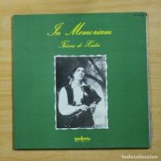 Discos de vinilo: FAISCAS DO XIABRE - IN MEMORIAM - GATEFOLD - LP. Lote 195282411