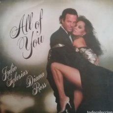 Discos de vinilo: JULIO IGLESIAS Y DIANA ROSS. SINGLE. SELLO CBS. EDITADO EN ESPAÑA. AÑO 1984. Lote 195284172