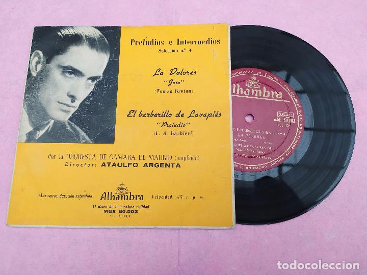 SINGLE ATAULFO ARGENTA – PRELUDIOS E INTERMEDIOS. SELECCION N.4 ESPAÑA 50S VG+/VG+ V (Música - Discos - Singles Vinilo - Clásica, Ópera, Zarzuela y Marchas)