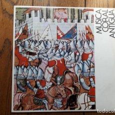 Discos de vinilo: AGRUPACIÓN CORAL DE CAMARA DE PAMPLONA - MUSICA CORAL ANTIGUA. Lote 195292022