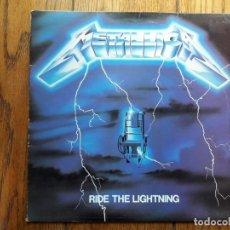 Discos de vinilo: METALLICA - RIDE THE LIGHTNING. Lote 195297827