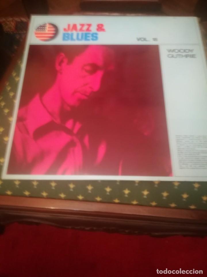 WOODY GUTHRIE.IN MEMORIAM. JAZZ&BLUES VOL.18. EDICIÓN ESPAÑOLA 1982.A ESTRENAR. (Música - Discos - LP Vinilo - Country y Folk)