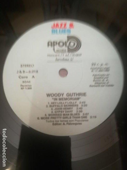 Discos de vinilo: Woody Guthrie.In Memoriam. Jazz&Blues Vol.18. Edición española 1982.A estrenar. - Foto 3 - 195298970