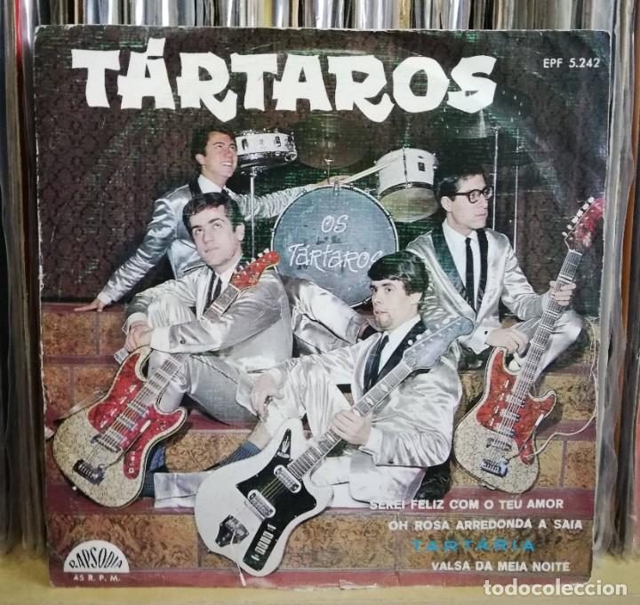 OS TÁRTAROS - TARTÁRIA EP 1964 SURF INSTRO ROCK N ROLL PORTUGAL MUY RARO - PORTUGUESE NUGGETS (Música - Discos - Singles Vinilo - Pop - Rock Extranjero de los 50 y 60)
