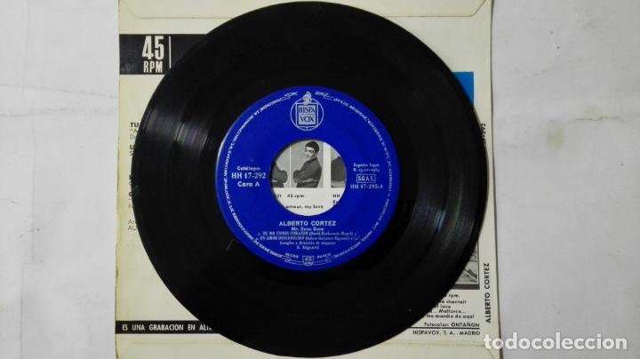 Discos de vinilo: DISCO SINGLE - ALBERTO CORTEZ, TU NO TIENES CORAZON Y TRES MAS, AÑO 1964, DISCOS HISPAVOX - Foto 3 - 195299657