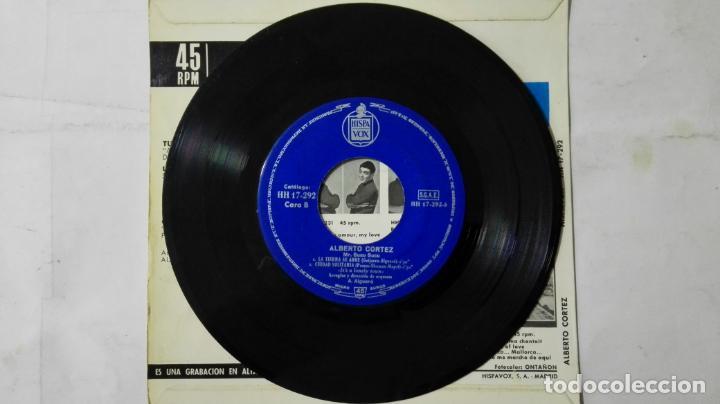 Discos de vinilo: DISCO SINGLE - ALBERTO CORTEZ, TU NO TIENES CORAZON Y TRES MAS, AÑO 1964, DISCOS HISPAVOX - Foto 4 - 195299657