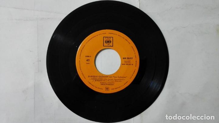 Discos de vinilo: DISCO SINGLE - ENRIQUE GUZMAN CON LOS SALVAJES, 100 KILOS DE BARRO Y TRES MAS, AÑO 1962, DISCOS CBS - Foto 4 - 195300090