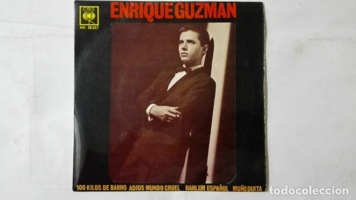 DISCO SINGLE - ENRIQUE GUZMAN CON LOS SALVAJES, 100 KILOS DE BARRO Y TRES MAS, AÑO 1962, DISCOS CBS (Música - Discos - Singles Vinilo - Solistas Españoles de los 50 y 60)