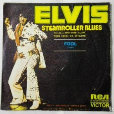 Discos de vinilo: DISCO SINGLE - ELVIS PRESLEY, STEAMROLLER BLUES, AÑO 1973, DISCOS RCA. Lote 195300536