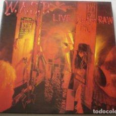 Discos de vinilo: W.A.S.P. LIVE... IN THE RAW. Lote 195301063