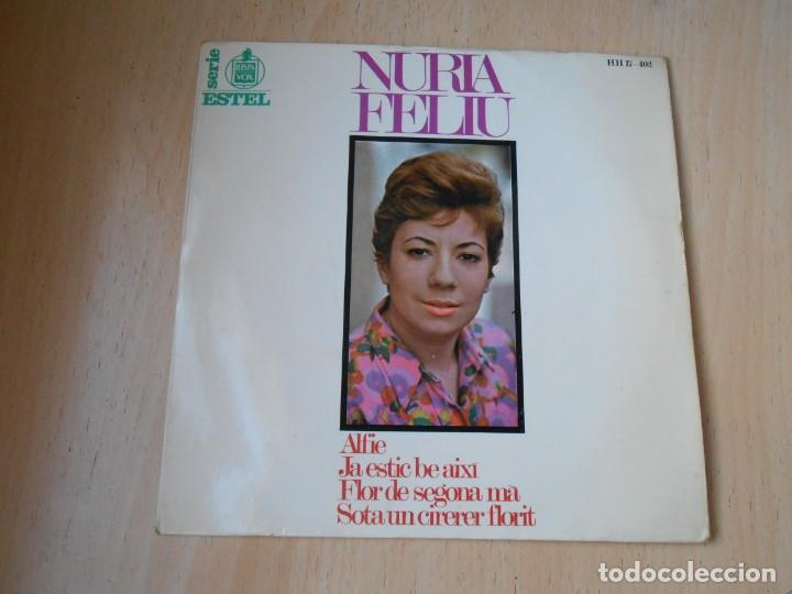 NÚRIA FELIU, EP, ALFIE + 3, AÑO 1967 (Música - Discos de Vinilo - EPs - Solistas Españoles de los 50 y 60)
