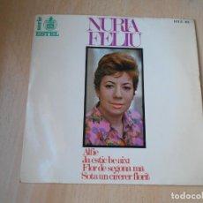 Discos de vinilo: NÚRIA FELIU, EP, ALFIE + 3, AÑO 1967. Lote 195306111